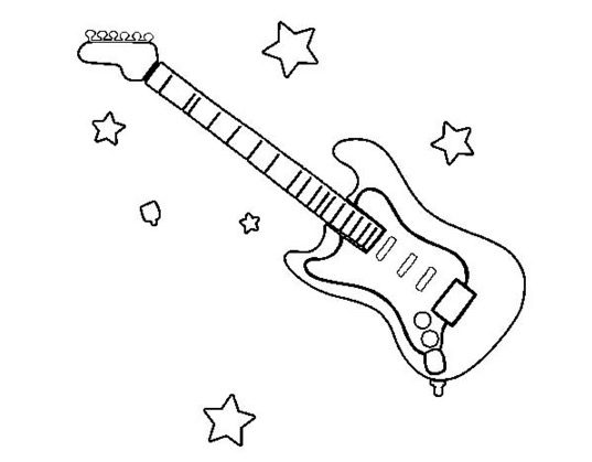 Electric Guitar Coloring Page amp
