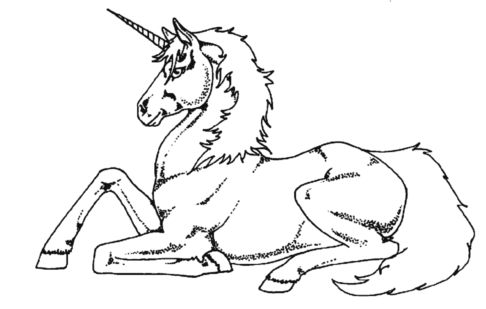 fancy unicorn coloring page