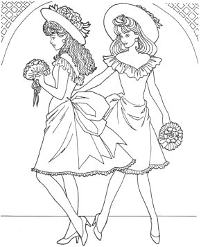 fashion-model-coloring-page