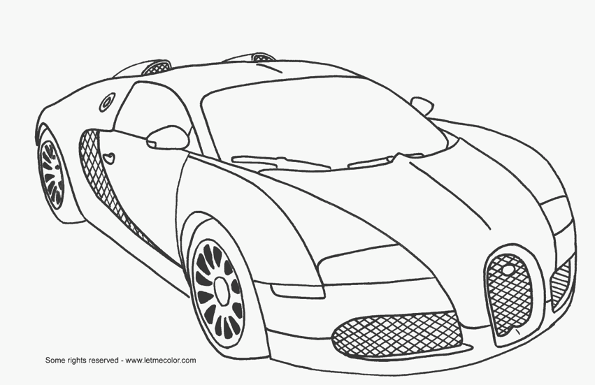 Fast Car Coloring Page & Coloring Book