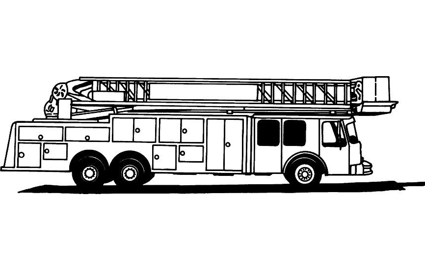 Beautiful Fire Trucks Coloring Page