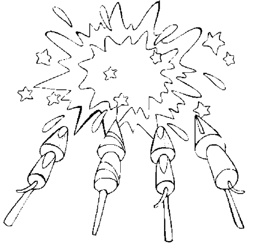Firework Celebration Coloring Page Coloring Book Celebration Coloring Pages