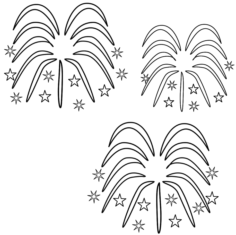 Fireworks Coloring Pages Fireworks Coloring Page & Coloring Book