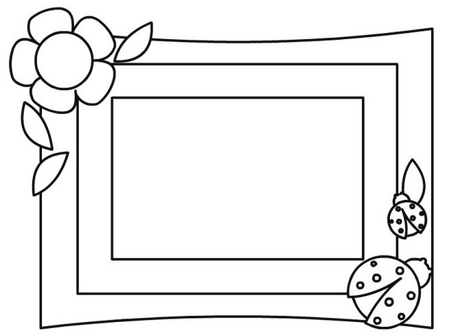 Flower Picture Frame Coloring Page & Coloring Book