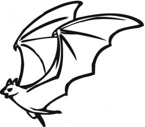 flying-bat-coloring-page