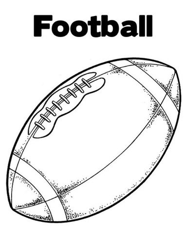 Football Coloring Page & Coloring Book