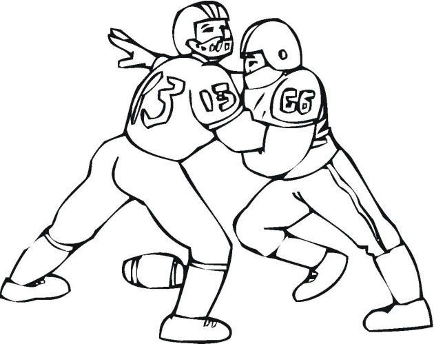 Football Defense Coloring Page & Coloring Book