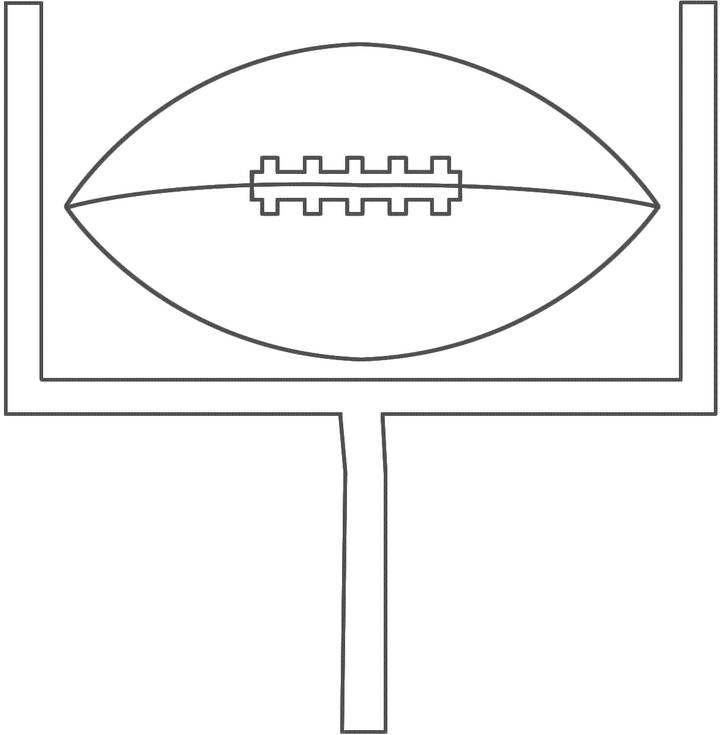 Printable Football Field Goal Coloringpagebook Com Football Field Coloring Pages