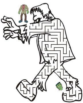 frankenstein-printable-maze