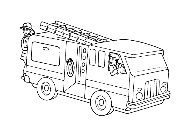 Coloring Pages Fire Truck Free Fire Truck Coloring Page & Coloring Book