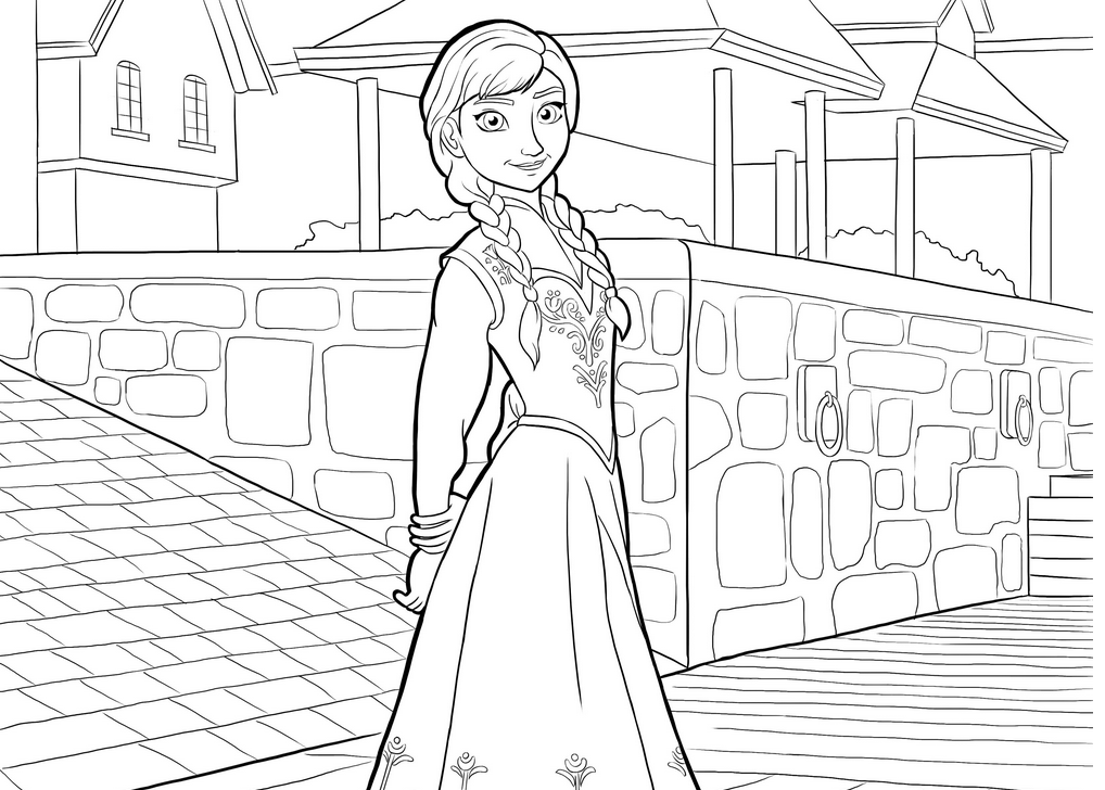 frozen-coloring-pages