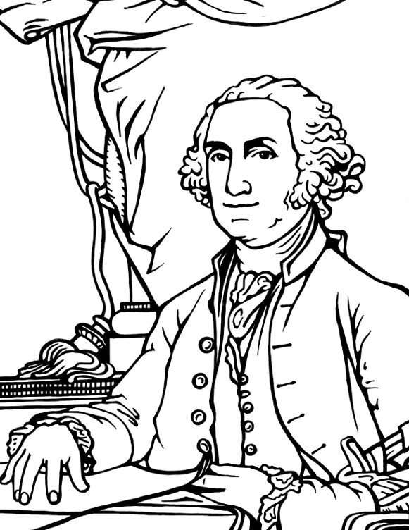 George Washington Coloring Page Coloring Book Coloring Page Of George Washington