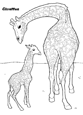 giraffe-and-baby-coloring-page