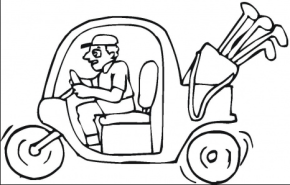 golf-cart-coloring-page