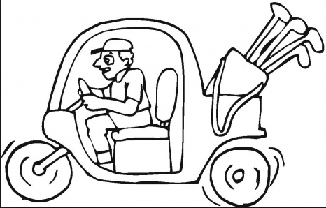 Golf Cart Coloring Page Coloring Book