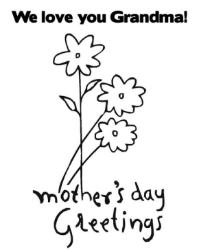 Grandma Mothers Day Coloring Page