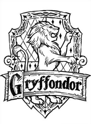 Gryffondor Coloring Page Harry Potter