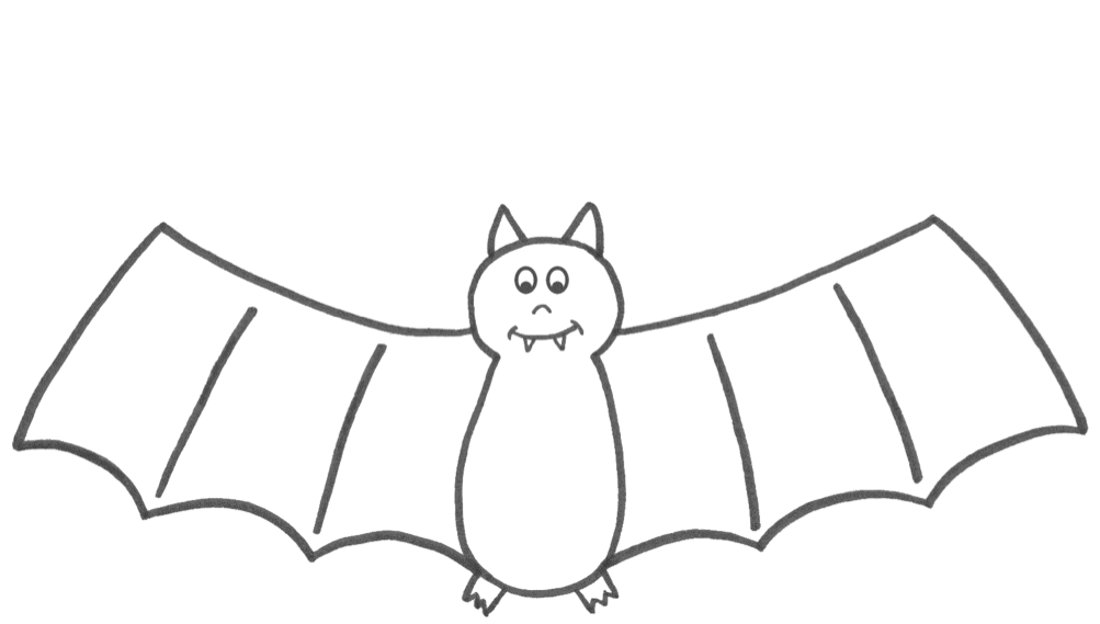 Halloween Bat & Coloring Book