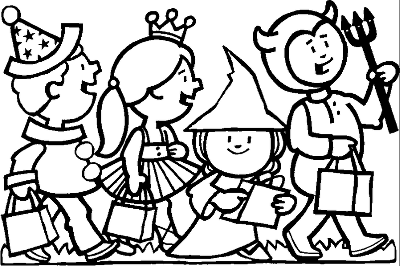 Halloween Costumes Coloring Page & Coloring Book