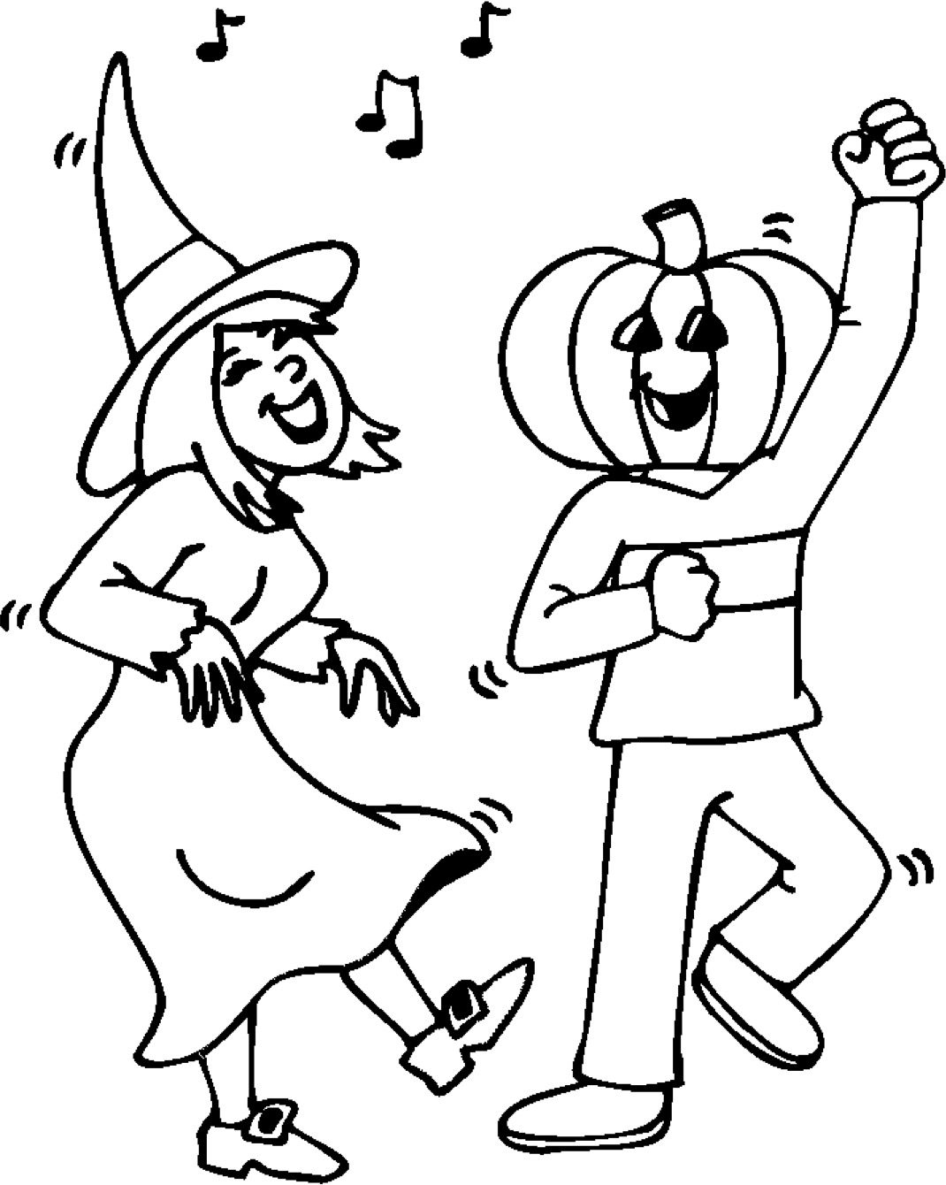 Halloween Party Coloring Page amp