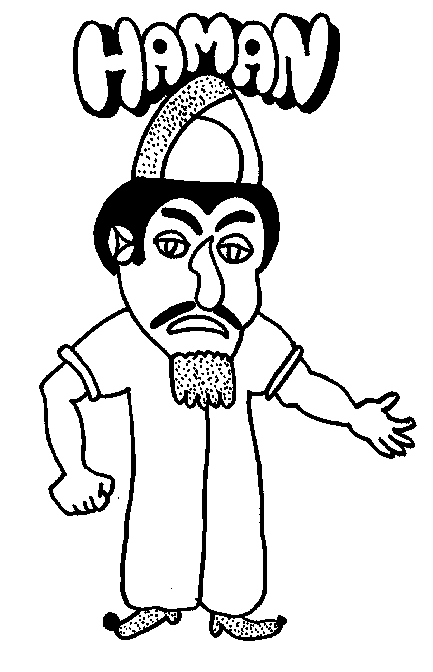 haman purim coloring page - Purim Coloring Pages