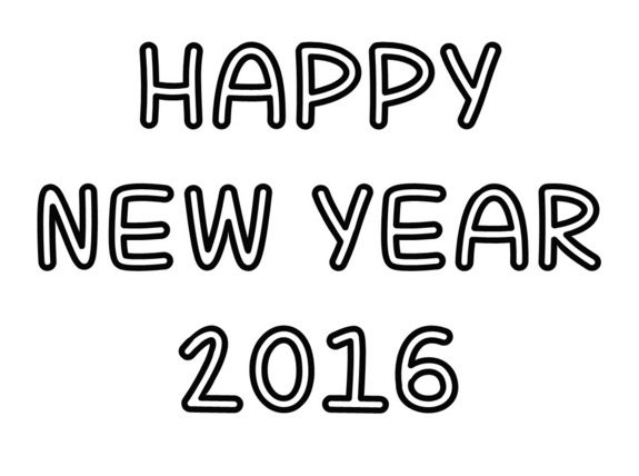 Happy new year 2016 coloring page coloring book for Happy new year coloring pages 2016
