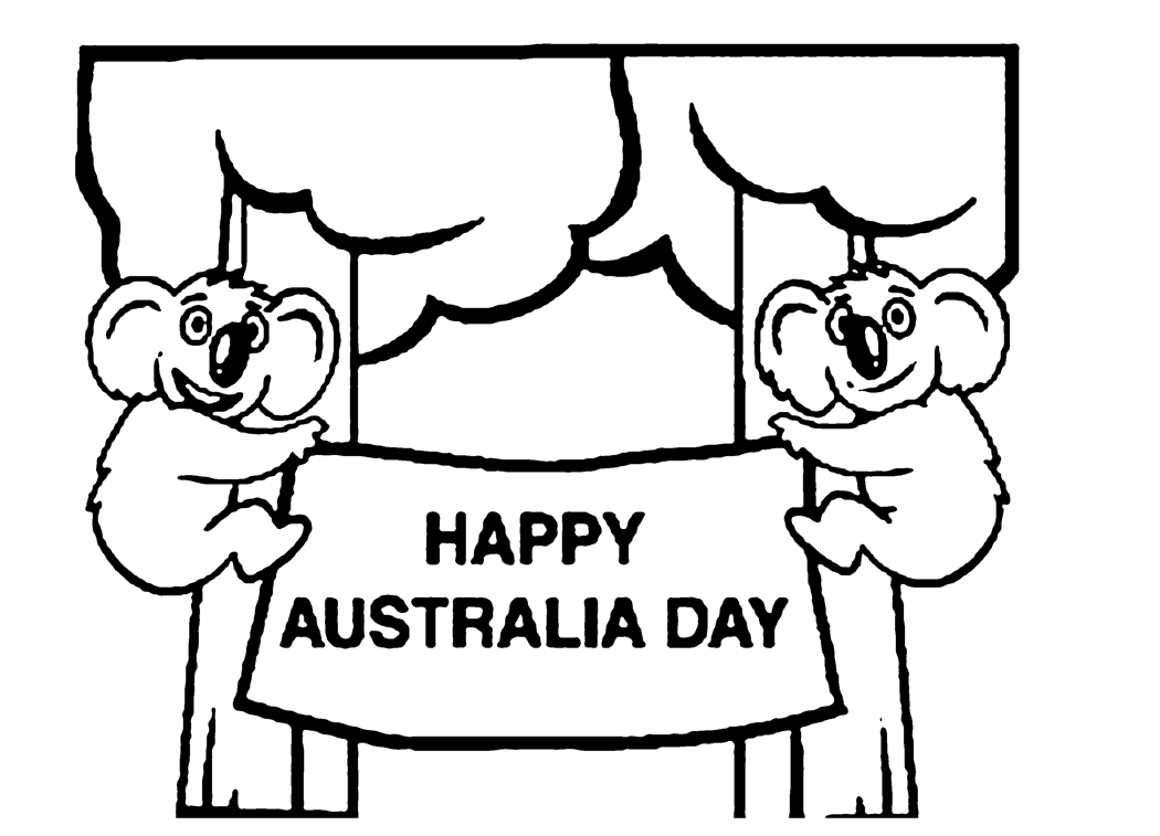 happy australia day coloring page u0026 coloring book