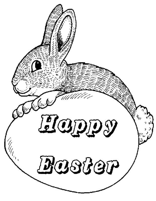 happybunny coloring pages | Printable happy-easter-printable - Coloringpagebook.com