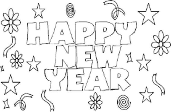Happy New Year Coloring Page Coloring Book New Years Coloring Pages