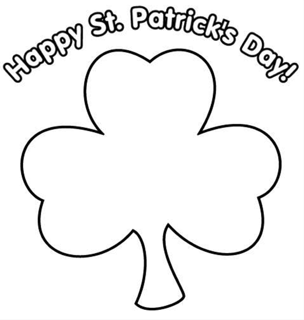 Happy St Patricks Day Printable Chamrock