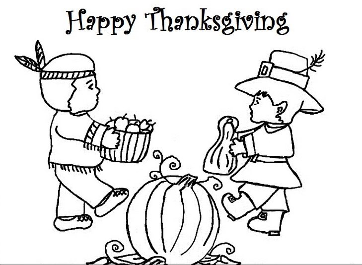 happy thanksgiving color pages - happy thanksgiving coloring page coloring book