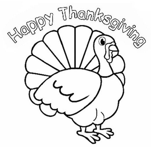Happy Thanksgiving Turkey Coloring Page & Coloring Book