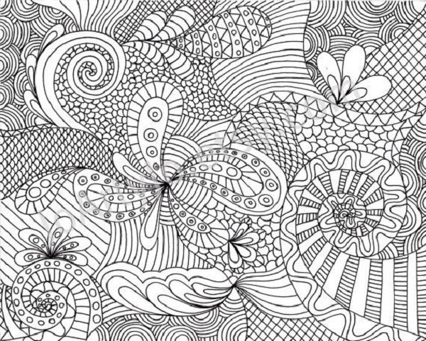 free hard crazy coloring pages