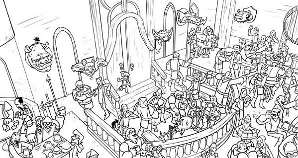 hard coloring page coloring book