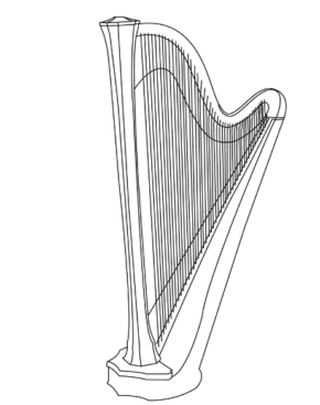 harp-coloring-page
