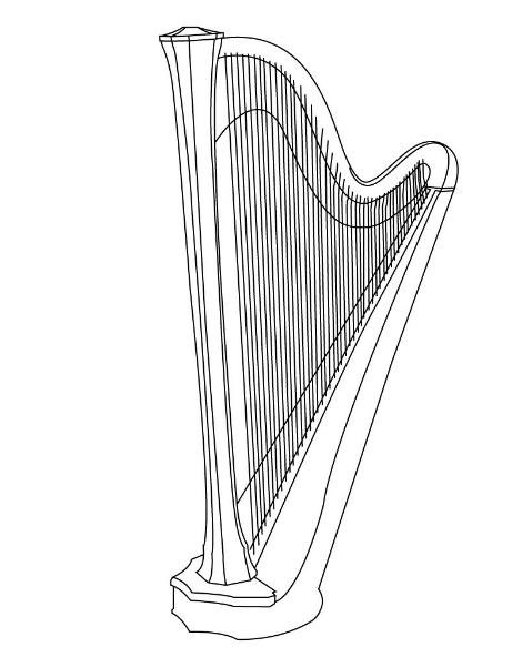 Printable harpcoloringpage Coloringpagebook