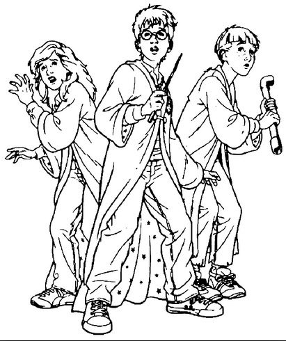 harry potter coloring page - Harry Potter Coloring Pages