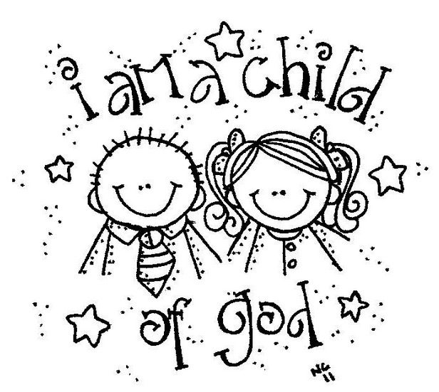 I Am A Child Of God Coloring Page on Digital Story Telling Lesson Plan