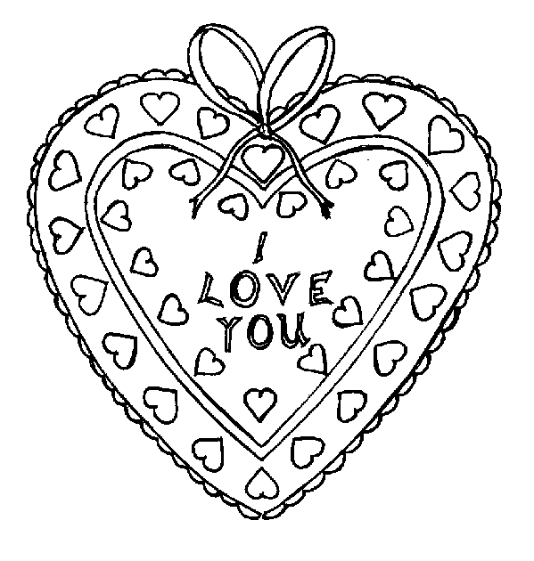 i-love-you-coloring-page | Coloring Page Book