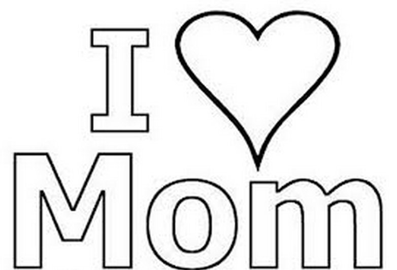 I Love Mom Coloring Page & Coloring - 165.4KB