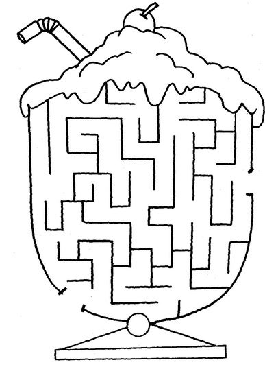 Printable Ice Cream Printable Maze Coloringpagebook Com