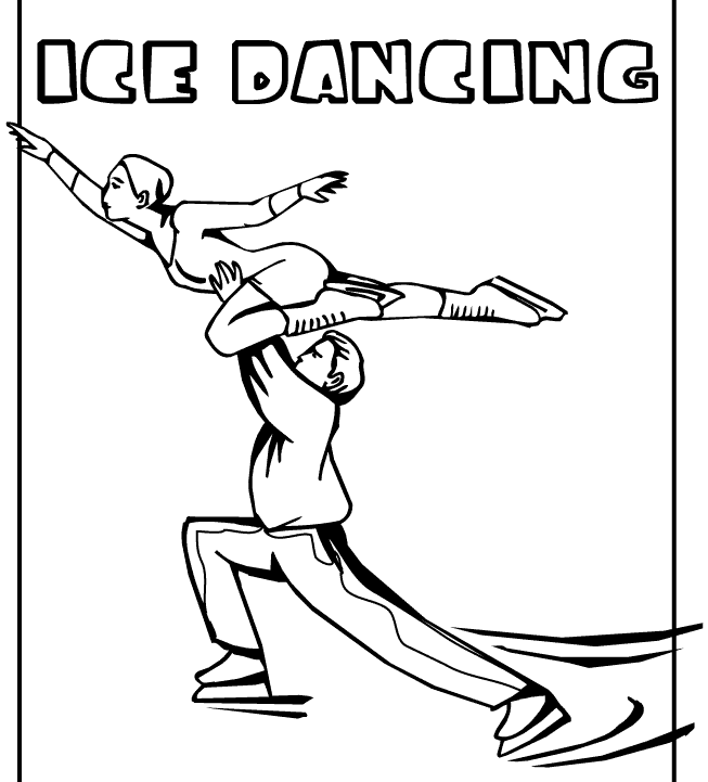 Ice dancing coloring page