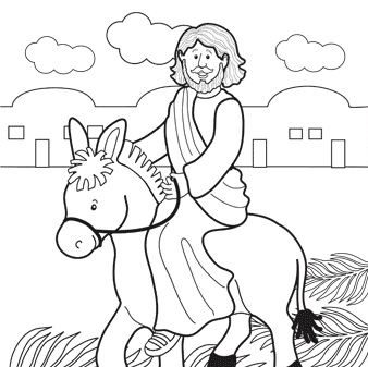 palm sunday donkey coloring pages - photo#11