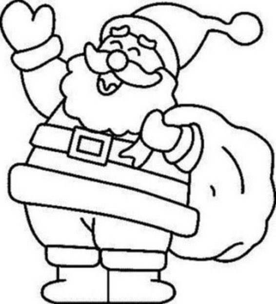 Jolly Santa Claus Coloring Page Coloring Book Colouring Page