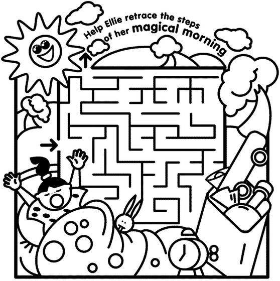 Kids Maze Coloring Page Coloring Book
