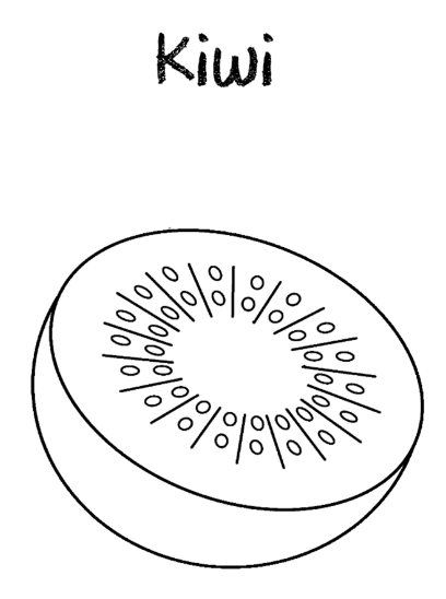kiwi coloring page amp coloring book