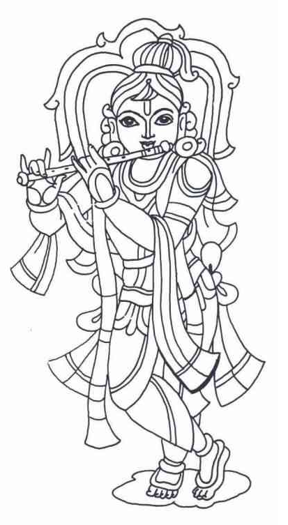 Printable krishna coloring page for Coloring pages of krishna