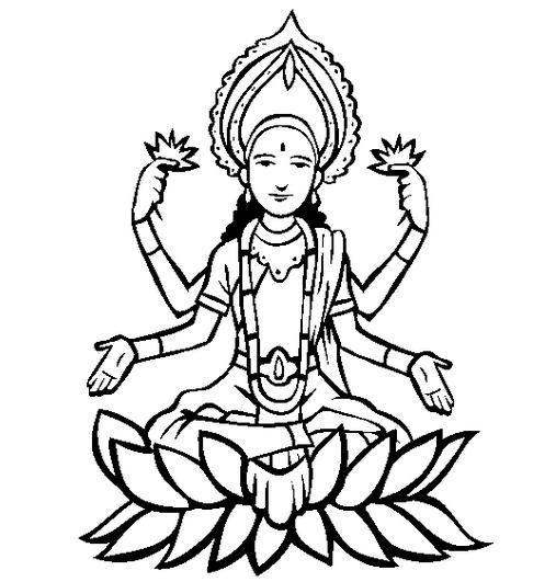 lakshmi-laxmi-coloring-page