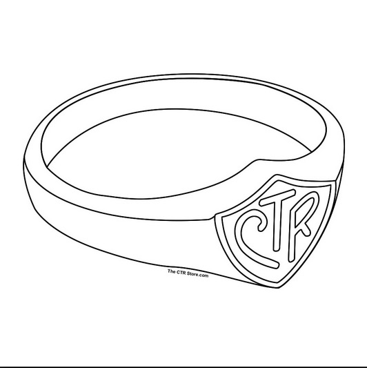 lds ctr ring coloring page