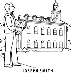 LDS Joseph Smith Coloring Page Coloring Book